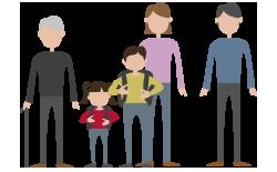 Ilustración familias 40 Aniversario