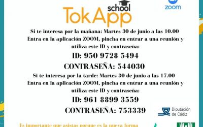 Escuela de familias. Formación para la instalación de la aplicación TokApp