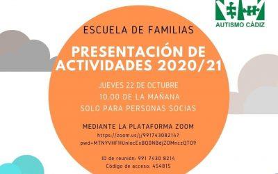Escuela de familias: Presentación de actividades