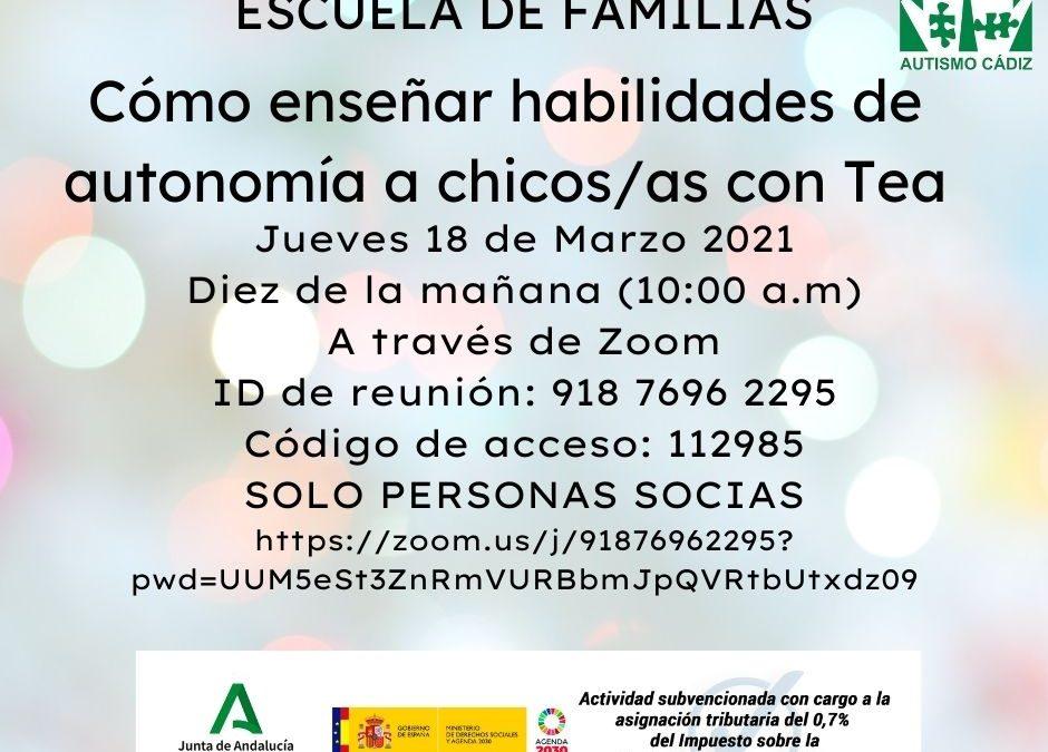 Escuela de familias Marzo 2021