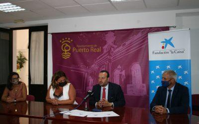 Acto de firma de la Fundación La Caixa en Puerto Real